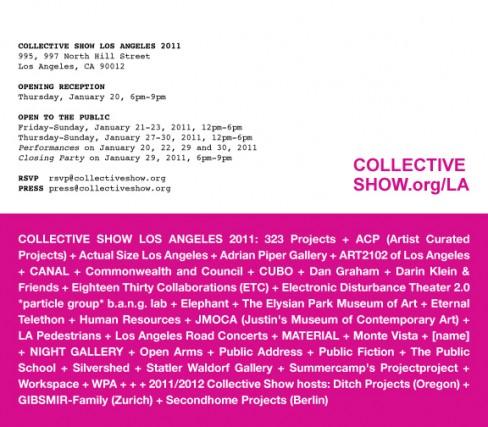 Collective Show Los Angeles 2011 Invite
